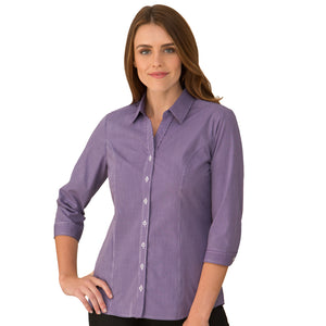The Pippa Check | Ladies | 3/4 Sleeve | Grape