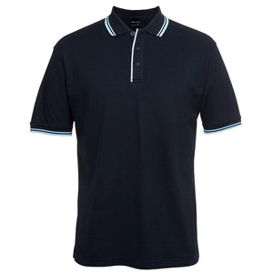 Contrast Polo | Navy/Light Blue