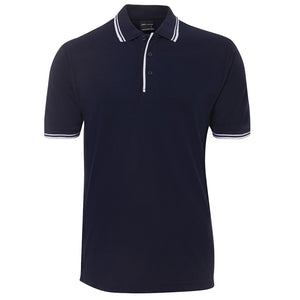 Contrast Polo | Navy/White