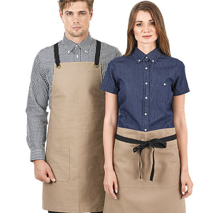 The Brooklyn Apron | Bib | Walnut