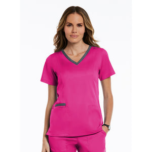 Matrix Double Contrast Top | Hot Pink