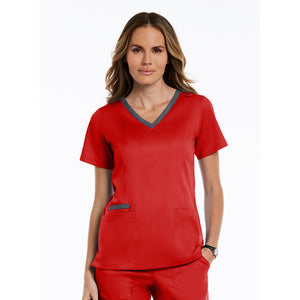 Matrix Double Contrast Top | Red