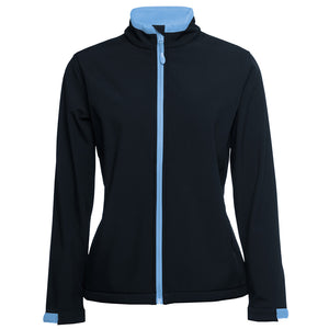 The Contrast Softshell Jacket | Ladies | Navy/Light Blue