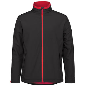 The Contrast Softshell Jacket | Mens | Black/Red