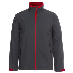 The Contrast Softshell Jacket | Mens | Charcoal/Red