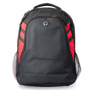 The Tasman Backpack | Black/Red