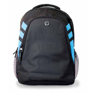 The Tasman Backpack | Black/Cyan