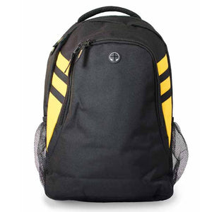 The Tasman Backpack | Black/Gold