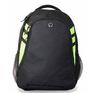 The Tasman Backpack | Black/Neon Green