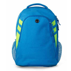 The Tasman Backpack | Cyan/Neon Green