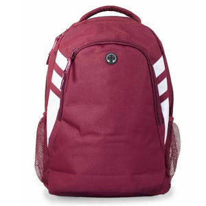 The Tasman Backpack | Maroon/White