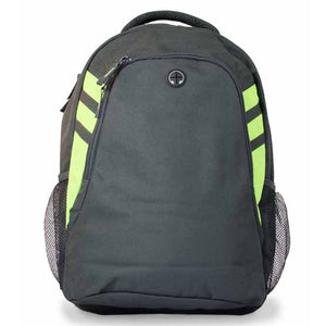The Tasman Backpack | Slate/Neon Green