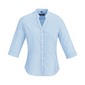 The Bordeaux Shirt | Ladies | 3/4 Sleeve | Alaskan Blue