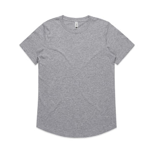 The Drop Tee | Ladies | Short Sleeve | Grey Marle
