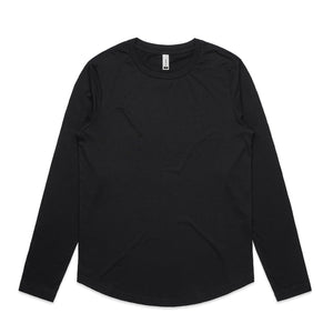 The Curve Tee | Ladies | Long Sleeve | Black