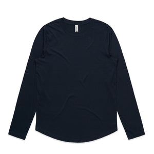 The Curve Tee | Ladies | Long Sleeve | Navy