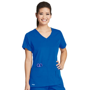 4 Pocket V Neck Top | Greys Anatomy | New Royal