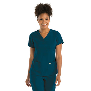 3 Pocket Mock Wrap | Greys Anatomy | Bahama