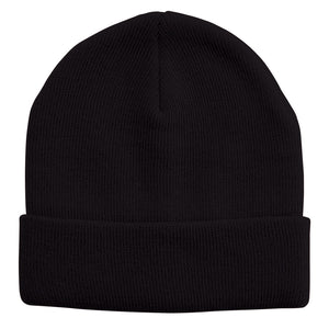 Acrylic Knit Beanie | Adults | Black