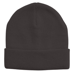 Acrylic Knit Beanie | Adults | Dark Grey