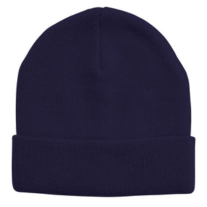 Acrylic Knit Beanie | Adults | Navy