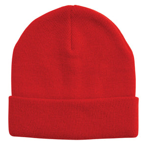 Acrylic Knit Beanie | Adults | Red