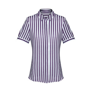 The Verona Blouse | Ladies | Short Sleeve | Purple Reign