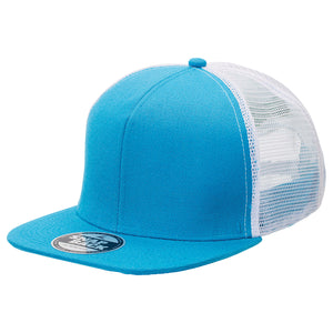 The Snapback Trucker Cap | Adults | Aqua/White