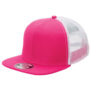 The Snapback Trucker Cap | Adults | Hot Pink/White