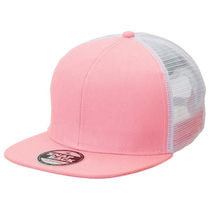 The Snapback Trucker Cap | Adults | Light Pink/White