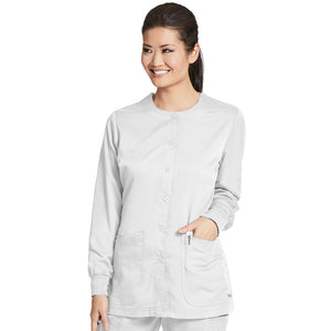 4 Pocket Warm Up Scrub Top | Greys Anatomy | White