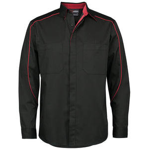 The Moto Industry Shirt | Adults | Long Sleeve | Black/Red