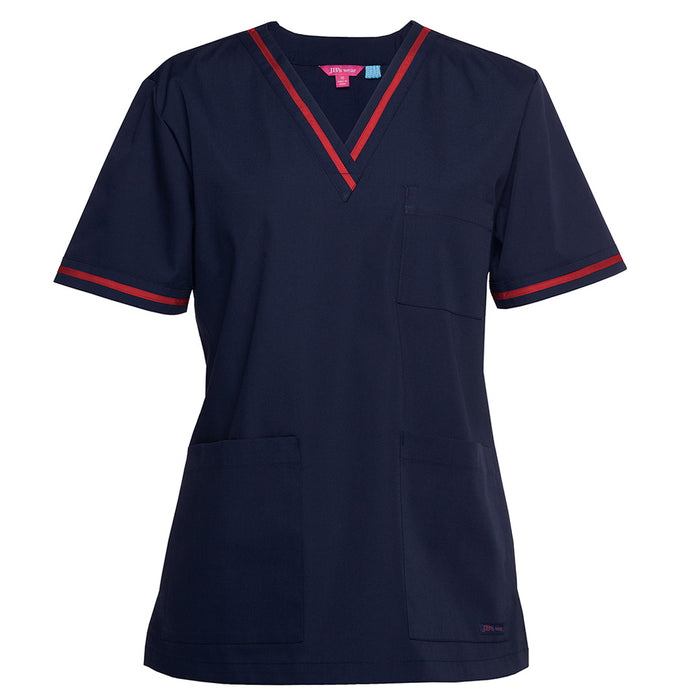 The Contrast V Neck Scrub Top | Ladies