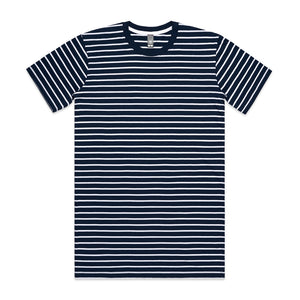 The Stripe Tee | Mens | Short Sleeve | Navy/White
