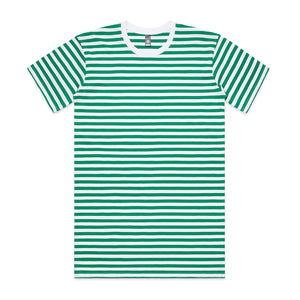 The Stripe Tee | Mens | Short Sleeve | White/Green