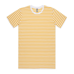 The Stripe Tee | Mens | Short Sleeve | White/Yellow