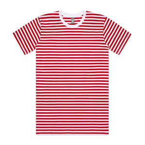 The Stripe Tee | Mens | Short Sleeve | White/Red