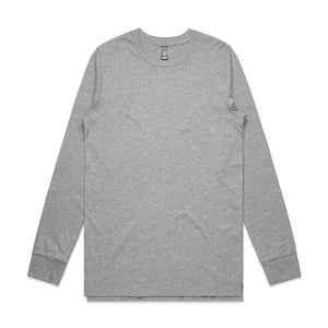 The Base Tee | Mens | Long Sleeve | Grey Marle