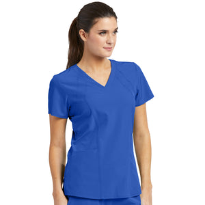4 Pocket Racer Scrub Top | Cobalt