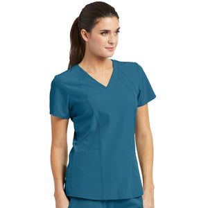 4 Pocket Racer Scrub Top | Bahama