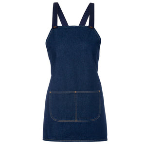 The Cross Back Denim Apron | Adults | Navy