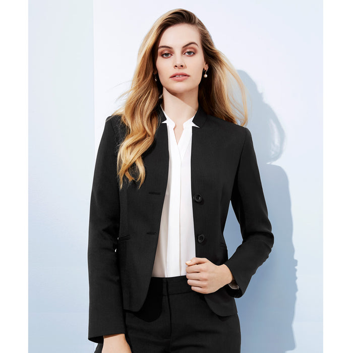 The Cool Stretch Reverse Lapel Jacket | Ladies | Crop Length