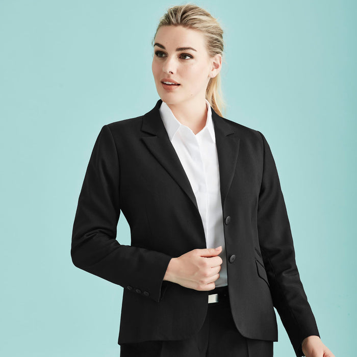 The Cool Stretch 2 Button Jacket | Ladies | Mid Length