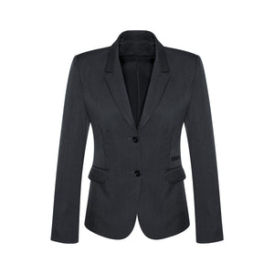 The Cool Stretch 2 Button Jacket | Ladies | Mid Length | Charcoal