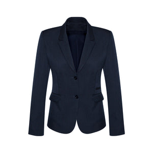 The Cool Stretch 2 Button Jacket | Ladies | Mid Length | Navy