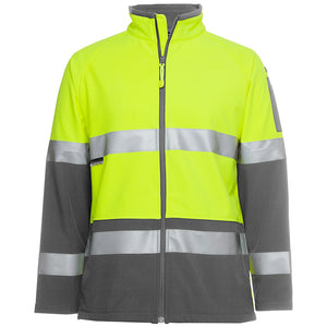 Softshell Jacket | Hi Vis | Lime/Charcoal