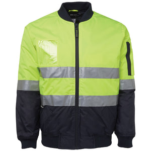Hi Vis Day Night Flying Jacket | Lime/Navy