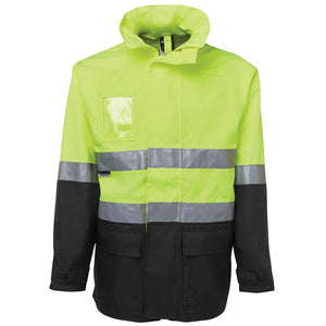 Long Line Hi Vis Jacket | Lime/Black