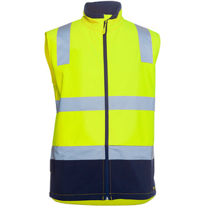 Soft Shell Hi Vis Vest | Yellow/Navy