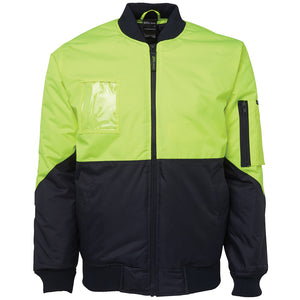 Hi Vis Day Flying Jacket | Lime/Navy
